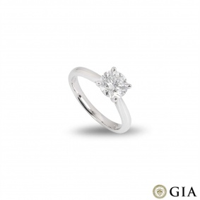 Platinum Round Brilliant Cut Diamond Ring 1.40ct G/VS1 XXX